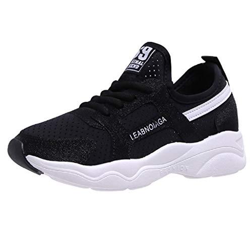 Schuhe Damen Sommer feiXIANG Freizeitschuhe Gym Sport Laufschuhe Sommer Herbst Arbeitsschuhe (Schwarz,36) (Zu Halloween-handwerk Kleinkindern Mit Machen)