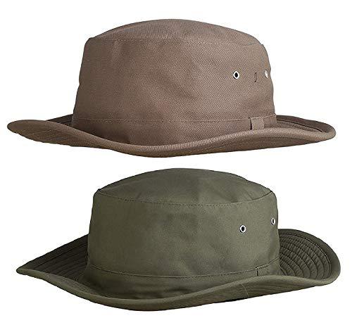 Zacharias Men's Cricket Umpire Hat Pack of 2 Beige & Green