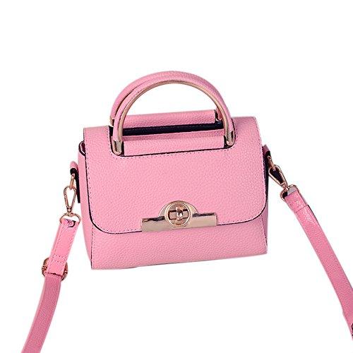 Tongshi Moda mujeres nueva verano bolso bandolera señoras bolso bandolera (Rosa caliente)