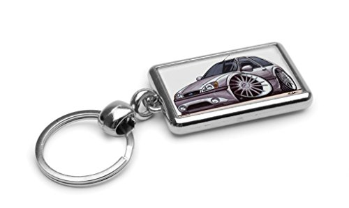 wickedartz-cartoon-car-ford-fiesta-mk5-zetec-s-silver-premium-metal-key-ring