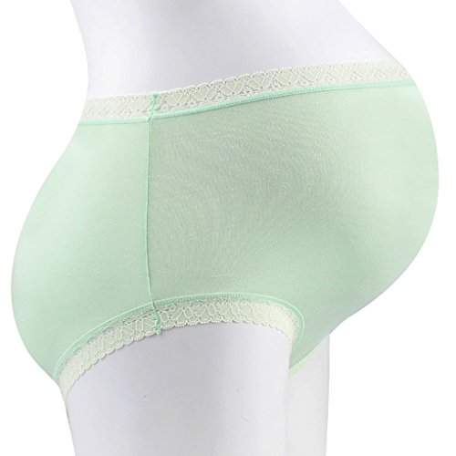 Vogue of Eden Women's Modal Maternity Brief Pregnant Underwear Panties(3pcs) green
