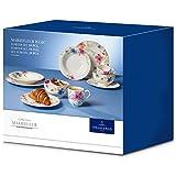 Villeroy & Boch Mariefleur Basic Tafelservice für bis zu 2 Personen, 10-teilig, Premium Porzellan, Weiß/Bunt