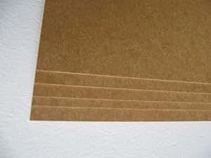 3 Stck. MDF Platte Zuschnitt 2,5mm stark, unbeschichtet 600x1000mm