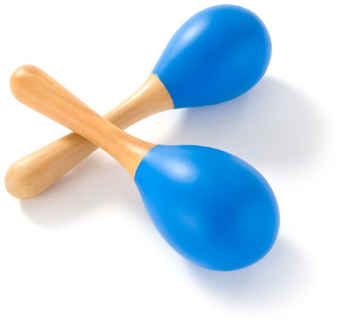 Percussion Plus Pair of Wooden Chikitas - Blue