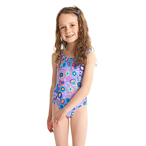 Zoggs Girls' Wild Scoopback Swimsuit