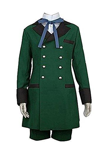 Fuman Black Butler Ciel Phantomhive Cosplay Kostüm Grün Anzug (Ciel Kostüm Butler Black)