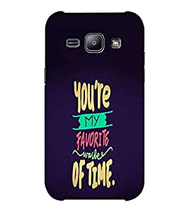 EPICCASE You're My Favourite Mobile Back Case Cover For Samsung J1 Ace (Designer Case)