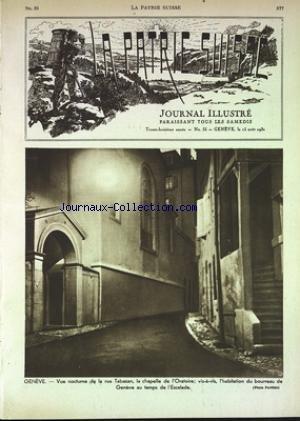 PATRIE SUISSE (LA) [No 33] du 15/08/1931