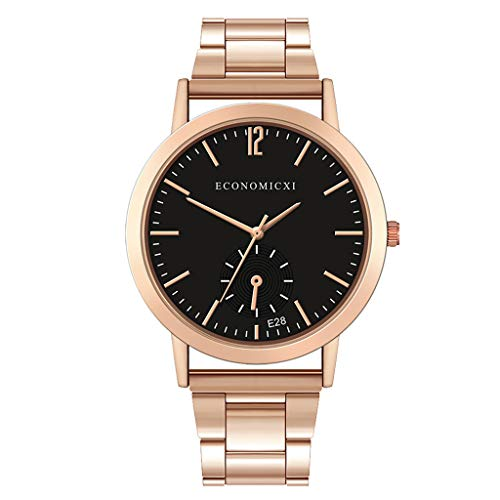 HHyyq Herren-Uhr Stahl-Gürtel Uhren Wasserdicht Business Men Es Watch Quarzuhr Sekunden Ausgeführt Art- Und Weisestahlbügel-Luxuxuhr-Mann-Kreative Beiläufige Uhr(E) -