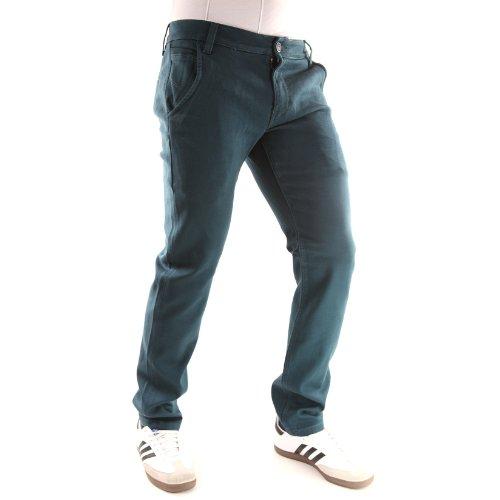 Solamode - Chino pantaloni - Leo Gutti - 652 - moda - verde scuro uomo Verde