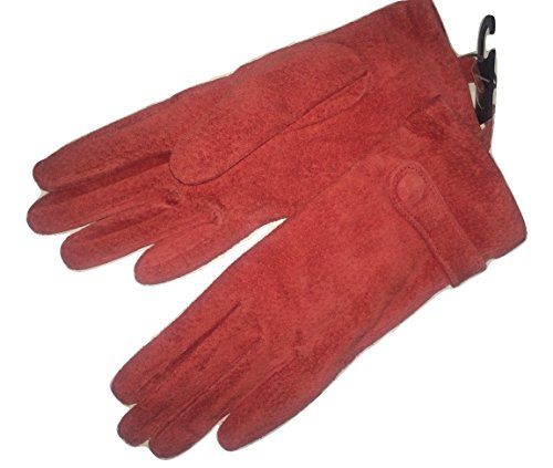 john-lewis-red-soft-suede-leather-gloves-size-small