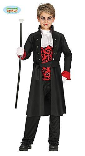 Guirca Edles Vampir Kostüm Halloween Kostüm für Kinder Gr. 98-146, Größe:110/116 (Disfraz De Halloween Vampira)