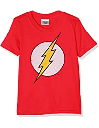DC Comics Boy's Distressed Flash Logo Short Sleeve T-Shirt