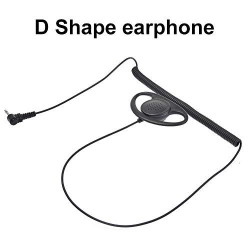 SOWLFE 3.5MM Curve 1-Pin D - Typ Einzelkopfhörer, D-Form Kopfhörer für ICOM Yaesu Motorola TK Interphone Externe Einzelkopfhörer Ptt-amp
