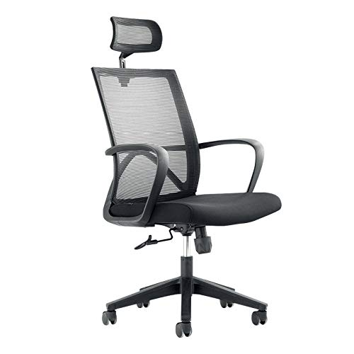 LIXIAO Bürostuhl Ergonomisches Design Home-Rotation Computer Stuhl Heben,Black