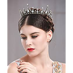 jovono boda novia corona diadema Vintage Reina Princesa para las mujeres