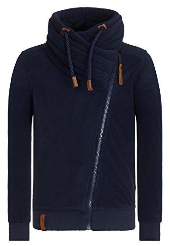 Naketano Male Zipped Jacket Gnadenlos durchgerattert II Dark Blue