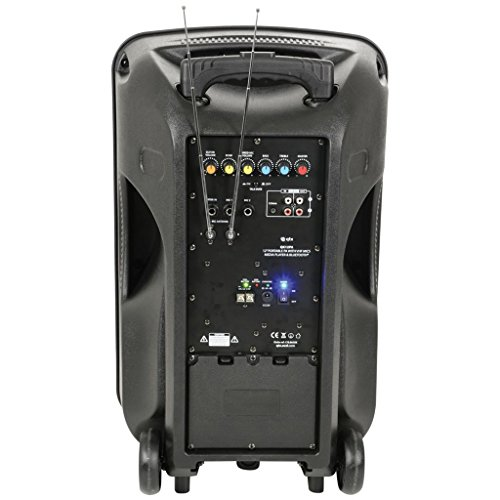 41zYO6kw7VL. SS500  - QTX QK12PA Portable 12-Inch Busker PA Speaker System with Rechargeable Battery, Wireless Microphone, Bluetooth and MP3…
