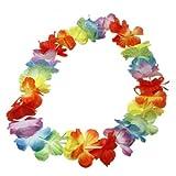 12 Hawaiiblumenkette, ca. 96cm, 36 Blüten - Hawaiikette Blumenkette