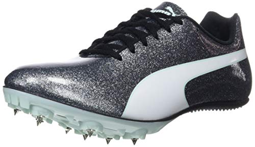 Puma Damen Evospeed Sprint 9 Wn Leichtathletikschuhe Schwarz (Steel Gray-Fair Aqua White), 38 EU