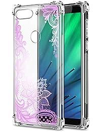 Oihxse Cristal Compatible con Samsung Galaxy S8 Funda Transparente TPU Silicona Estuche Airbag Esquinas Anti-Choque Anti Rasguños Diseño Rosa Flower Caso (Flores B9)