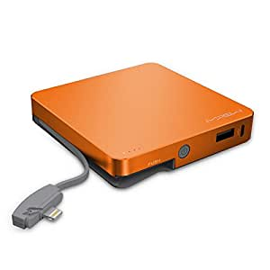 MiPow Power Cube 8000L Portable Charger with Lightning Connector for Apple iPod/iPhone - Orange