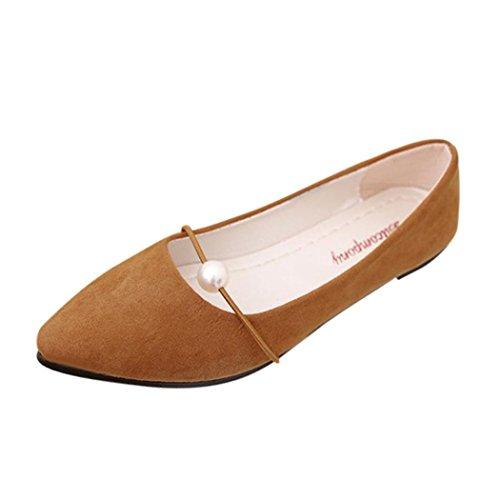 Sandales Femme Ete Ansenesna Mocassins Penny en Cuir VéRitable Femmes Casual Mocassins Slip-on Boat Flats Chaussures