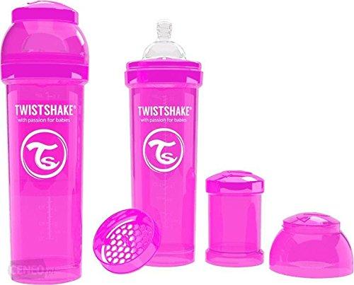 Twistshake 78013 - Biberón, color rosa