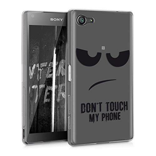 kwmobile Sony Xperia Z5 Compact Hülle - Handyhülle für Sony Xperia Z5 Compact - Handy Case in Schwarz Transparent