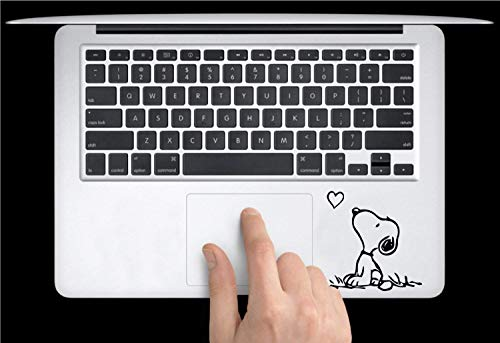 Apple MacBook Air Pro + Snoopy Heart + Aufkleber Sticker Skin Decal + Tastatur Trackpad iPhone Love Peanuts