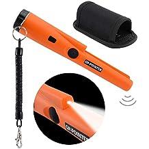 Soddyenergy - Detector de Metales portátil con Indicadores LED y Soporte para cinturón, Herramienta de