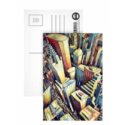 the-chrysler-building-1993-oil-on-canvas-postkarten-8er-packung-152x102-cm-beste-qualitat-standardgr