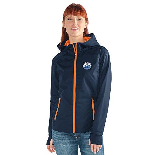 GIII For Her NHL Damen Stand ermöglicht Kick Light Gewicht Full Zip Jacket, Damen, Onside Kick Light Weight Full Zip Jacket, Navy, Large Womens Primary Zip Hoody
