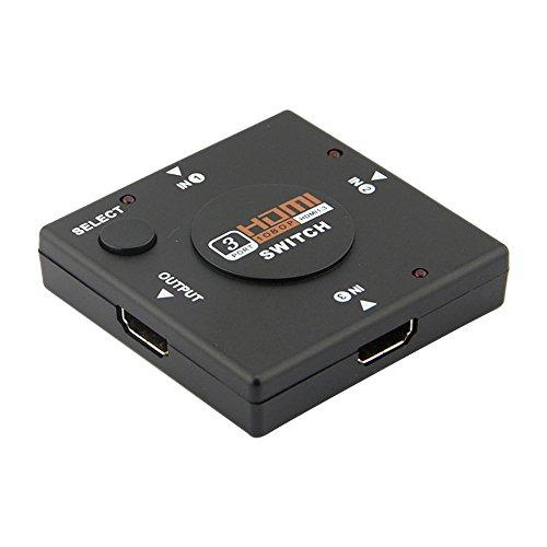 Hp Video Splitter (Unicoco 3-in-1 HDMI-Umschalter (4 Ports, HDMI Splitter mit 3 Eingängen, 1 Video-Ausgang, 1 Ausgang)