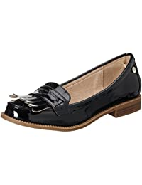 Xti Black Mirror Pu Ladies Shoes ., Mocassins (loafers) femme