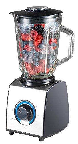 Rosenstein & Söhne Smoothie Maker: Glas-Standmixer, 6 Klingen, 7 Modi, Ice Crush, 600W, 1,5l, Profi-Clean (Glasmixer) - Eis-mixer