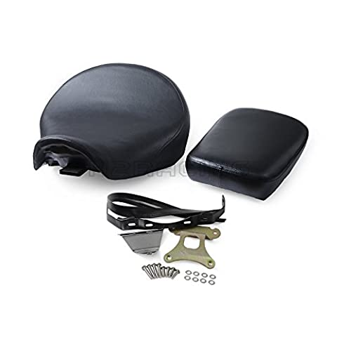 H2Racing Front & Rear Leather Passenger Seat with Bracket for Shadow Aero VT750C VT750CA VT750CS 2013 2014