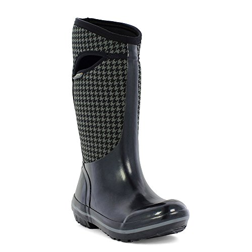 Bogs Plimsoll Houndstooth Tall Womens Wellies Black Multi
