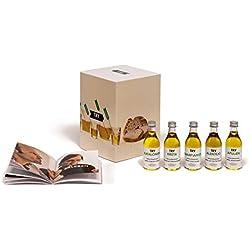 """TRY Olivenöl Geschenkset - bekannt aus """"Die Höhle der Löwen"""" - ein Verkostungs-Set mit fünf Olivenölen extra nativ & 60-seitigem Booklet mit Infos, Tipps und Anregungen"""