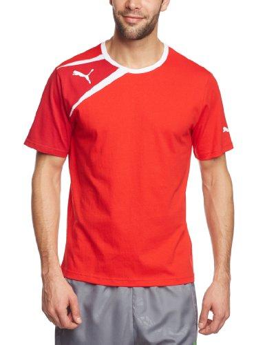 PUMA Herren T-Shirt Spirit Tee, Puma Red/Chili Pepper/White, XL, 653589 01 Preisvergleich