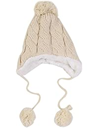 Wuiyepo Bébé Filles Garçons enfants Knit Cap d'hiver Ears chapeau chaud