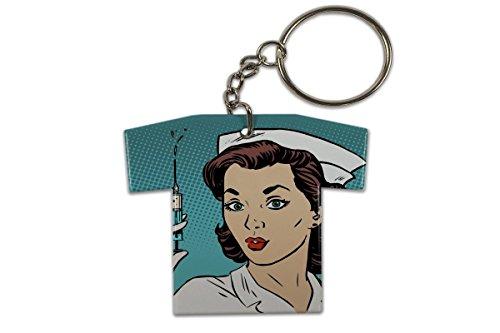 Llavero Diversíon Enfermera Jersey impreso
