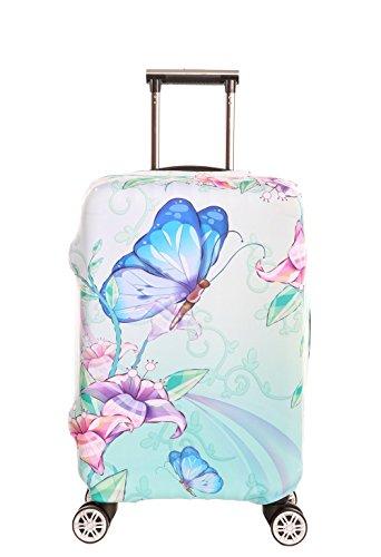 SINOKAL Elastische 22-24 Zoll Koffer Abdeckung Gepäckraumabdeckung Protektor (Koffer Nicht im Lieferumfang enthalten)