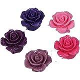 a8476e28e429 Diseño de rosas gemas para fabricación de joyería - 20 unidades -  Morado con brillantes
