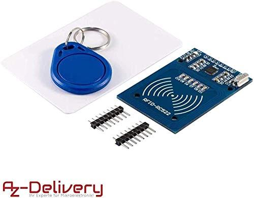 AZDelivery RFID Kit RC522 mit Reader, Chip und Card für Arduino und Raspberry Pi mit gratis eBook!