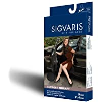 Women's Sheer Fashion 15-20 mmHg Closed Toe Thigh High Sock Size: B, Color: Black 99 by Sigvaris preisvergleich bei billige-tabletten.eu