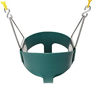 TuToy Fully Assembled High Back Baby Swing Seat Full Bucket Toddler Playground Park Home Garden Cradle