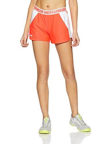 Under armour, play up short 2.0, pantaloncino, donna, rosso (marathon red/white 963), s