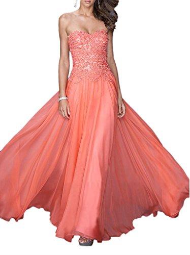 Promgirl House - Robe - Trapèze - Femme Orange - Corail