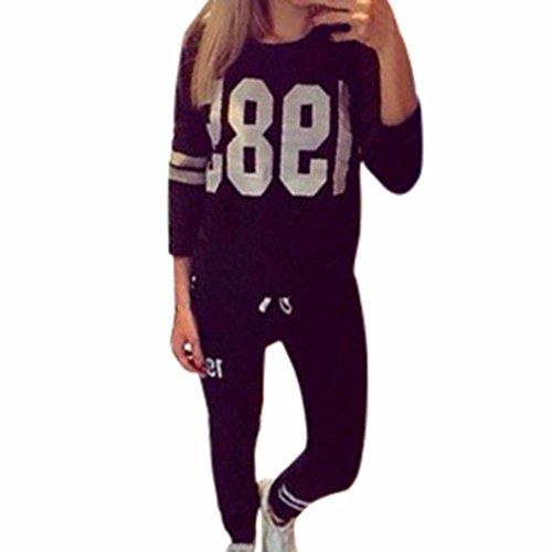 Rcool Dame Trainingsanzug Langarmshirts Sweatshirt Sporting Hosen Hosen Set (S, (Partner Tumblr Kostüme)
